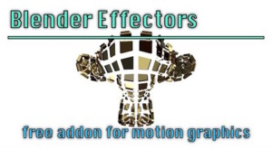 blender effectors addon for motion graphics