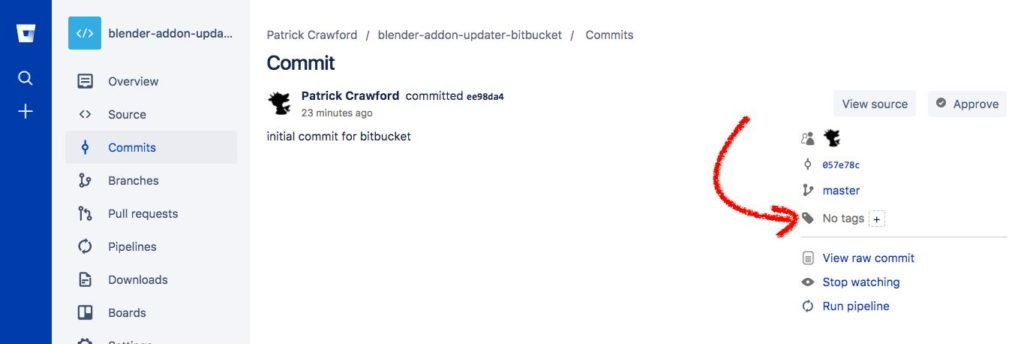 bitbucket tags step 2